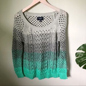 American Eagle Outfitters Colorblock Sweater Small